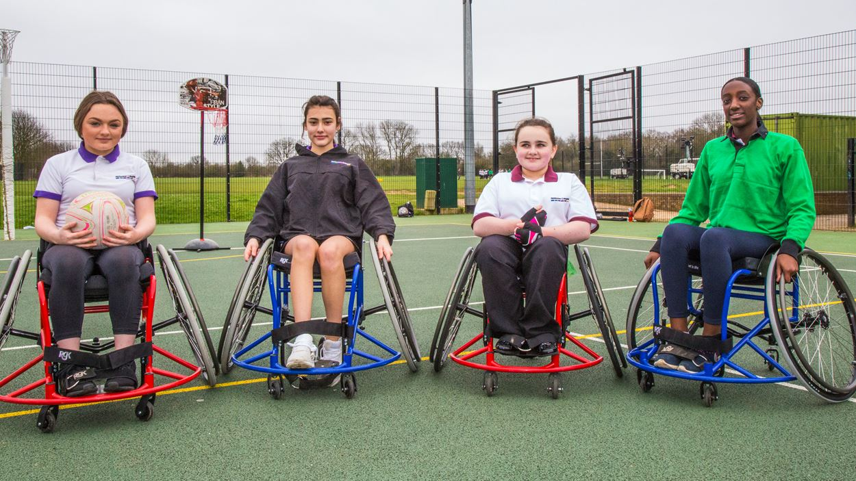 Sports wheelchairs for Riddlesdown Collegiate.JPG